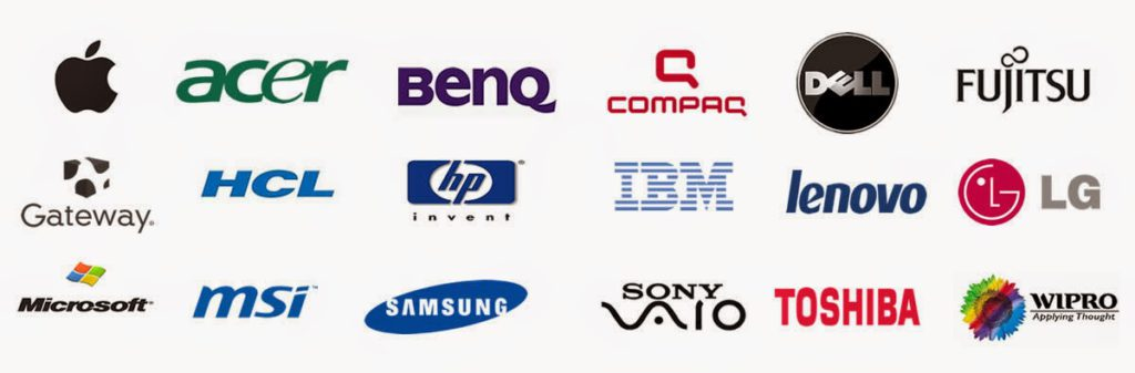 various brand names of computers we fix